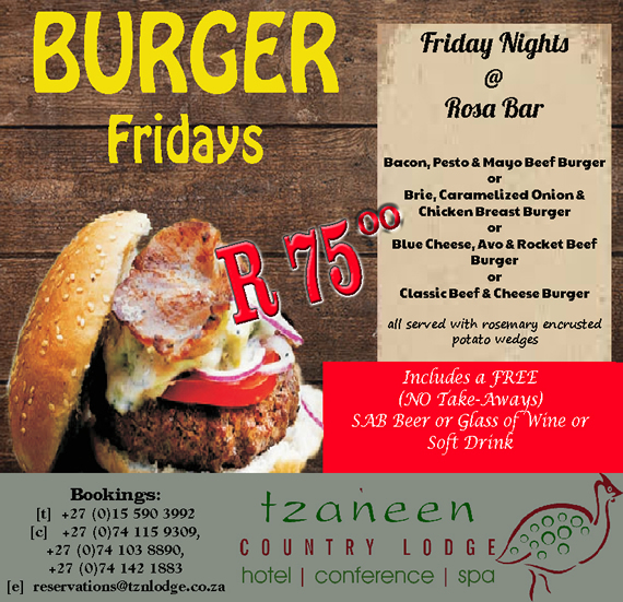Burger Fridays @ Rosa Bar