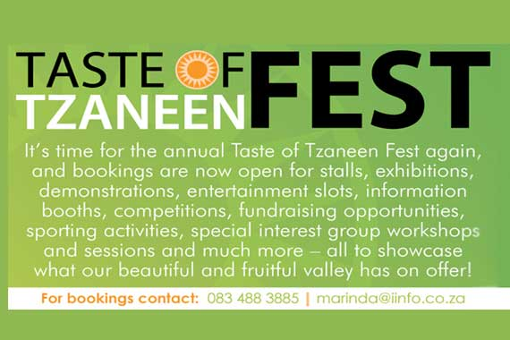 Save the date for this year's Taste of Tzaneen Fest which will take place at Fairview Hotel in Tzaneen