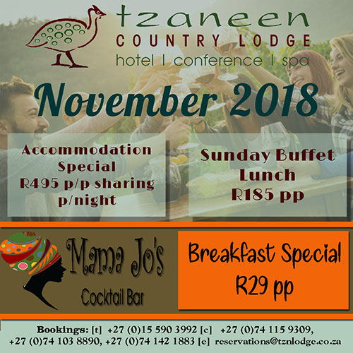 November Accommodation Special